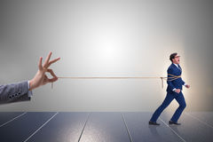 The staff retention concept with employee tied up. Staff retention concept with employee tied up Stock Images