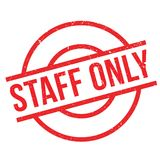 Staff Only rubber stamp Royalty Free Stock Photography