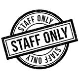 Staff Only rubber stamp Stock Images