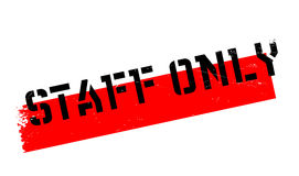 Staff Only rubber stamp Royalty Free Stock Image