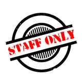 Staff Only rubber stamp Royalty Free Stock Images