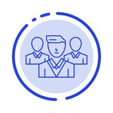Staff, Security, Friend zone, Gang Blue Dotted Line Line Icon royalty free illustration