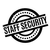 Staff Security rubber stamp Royalty Free Stock Photos