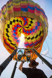 Staff setting balloon before releasing to the sky Royalty Free Stock Image