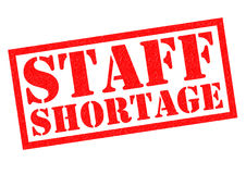 STAFF SHORTAGE Stock Images