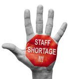 Staff Shortage. Stop Concept. Stock Images