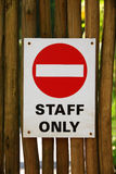 Staff only sign Royalty Free Stock Images