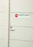 Staff only Stock Image