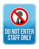 Staff Only Sign Isolated Stock Photography