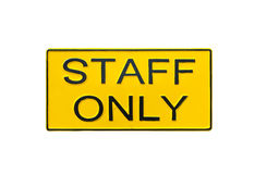 Staff Only Sign. Stock Image