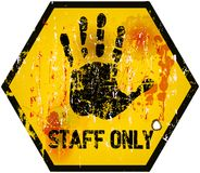 staff only sign Royalty Free Stock Photography