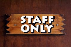 Staff Only Sign Stock Photography