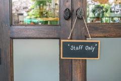 Staff only sign Royalty Free Stock Photo