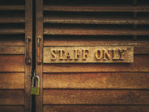 Staff only Stock Photos