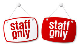 Staff only signs. Royalty Free Stock Photography