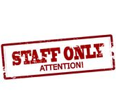 Staff only. Stamp with text staff only inside,  illustration Stock Image