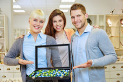 Staff team in jewelry store Stock Images