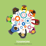Staff teamwork report planning brainstorm office vector flat Stock Photography