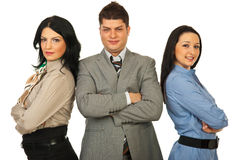 Staff of three business people Royalty Free Stock Image