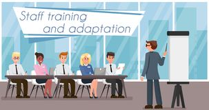 Free Staff Training And Adaptation. Vector Illustration Stock Image - 134093911