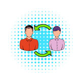 Staff turnover concept icon, comics style. Staff turnover concept icon in comics style on a white background Royalty Free Stock Photo