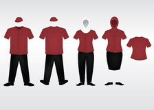 Staff uniform template. Uniform design for staff cleaning industry Royalty Free Stock Image