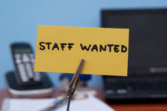 Staff wanted. Stock Photography
