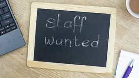 Staff wanted memo Stock Images