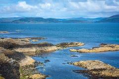 Staffa, en ö av den inre Hebridesen i Argyll och Bute, Skottland Royaltyfri Bild