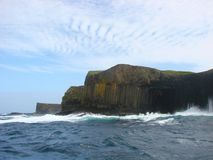 Staffa island stock photo