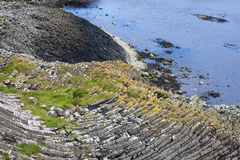 Staffa, an island of the Inner Hebrides in Argyll and Bute, Scotland Royalty Free Stock Photos