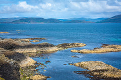 Staffa, an island of the Inner Hebrides in Argyll and Bute, Scotland Royalty Free Stock Image