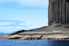 Staffa, Scotland. Rocky island, Staffa, travelling in europe Royalty Free Stock Photo