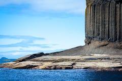 Staffa, uma ilha do Hebrides interno em Argyll e Bute, Escócia Fotografia de Stock