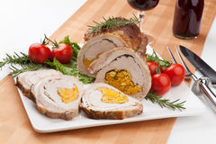 Staffed Pork Loin Roulade Stock Photos