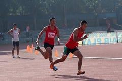 Staffellauf Stockfoto