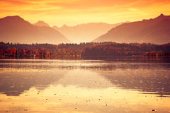Staffelsee lake in Bavaria Germany Royalty Free Stock Photography