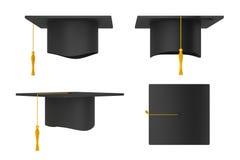 Staffelung Academic-Kappen Stockbild