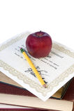 Staffelung-Diplom Stockbild