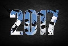 Staffelungshüte 2017 im Himmel Lizenzfreies Stockfoto
