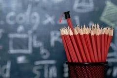 Staffelungskappenabnutzung auf einem Bleistift Lizenzfreies Stockbild