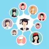 Staffelungsstudent treffen Berufswahlen lizenzfreie abbildung