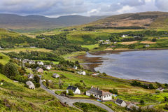 The A855 Staffin to Uig Road Stock Photography