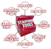 Staffing Tools Toolbox Recruiting New Employees Hiring Workers Stock Photography