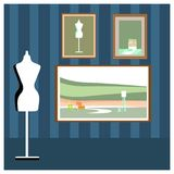 Staffli eller målningkonstbräden med kanfas vektor illustrationer