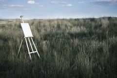 Staffli på fältet arkivfoto