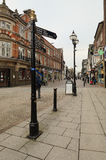 Stafford High Street, Greengate Street. The main high street in Stafford town center on a normal weekday Royalty Free Stock Image