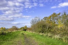 Staffordshire countryside on beautiful autumn day stock photo