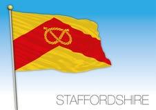 Staffordshire flag, United Kingdom, county of UK Stock Image