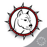Staffordshire terrier sign. Vector illustration of staffordshire terrier Royalty Free Stock Images
